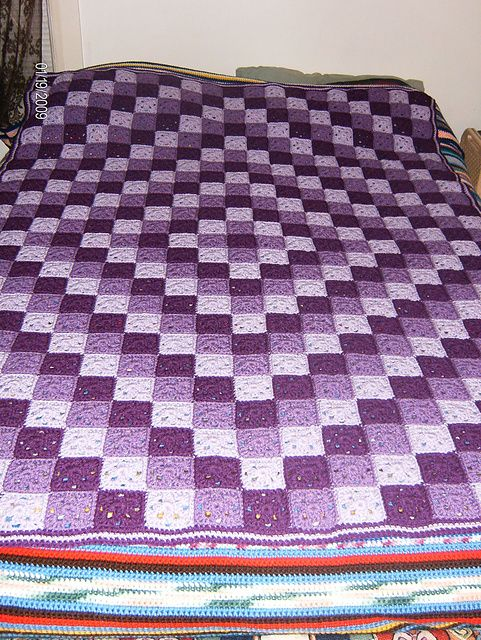 Ravelry: Around the World Crochet Quilt pattern by Karen Buhr ... : crocheted quilts - Adamdwight.com