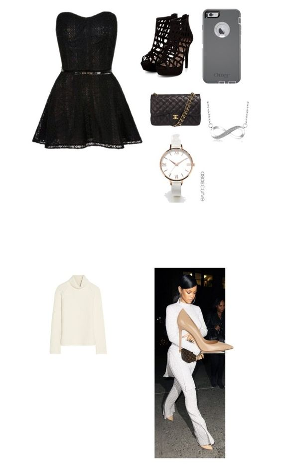 """""""My First Polyvore Outfit"""" by myrka-garcia ❤ liked on Polyvore featuring Antonio Berardi, Gianvito Rossi, Chanel, OtterBox and ASOS Curve"""