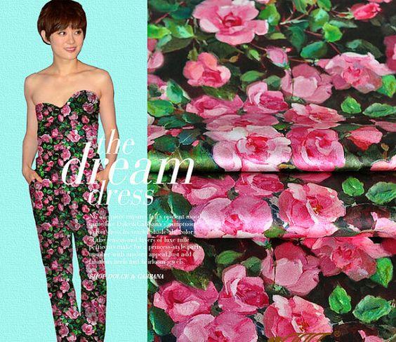 47 Zoll Breite 19 m/m Print Silk Fabric Seide von AnnyFabrics