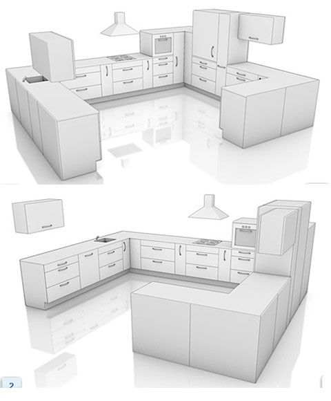 G shaped kitchen layout kitchen pinterest the o 39 jays for G shaped kitchen layout