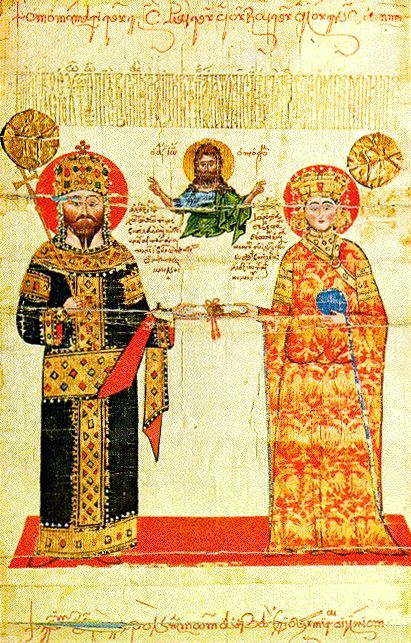 Alexius III of Trebizond and wife Theodora Kantakouzene from the Imperial…