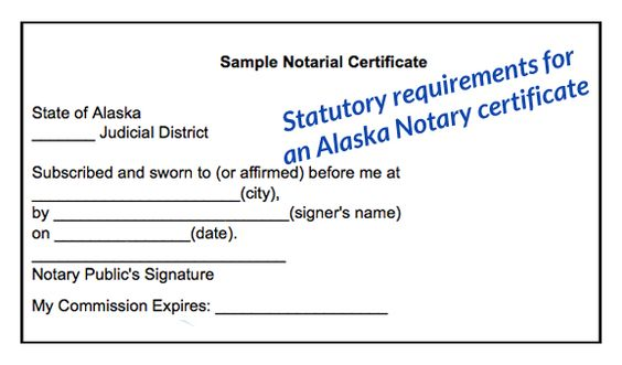 this is a sample of an Alaska birth certificate acceptable for - notary template