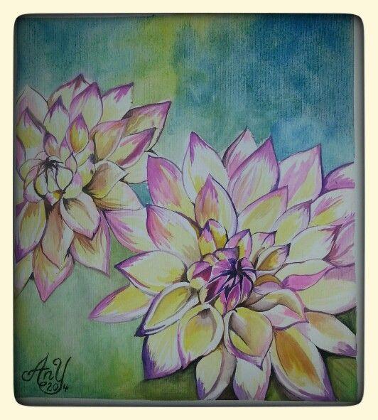 Flores en Acuarela y pluma