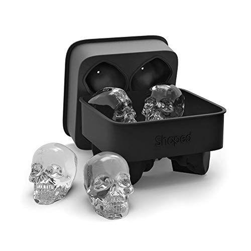 New Halloween Silicone Skull /& Crossbones Ice Cube Skull Tray Mold 8 Cavities DI