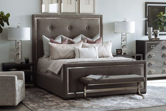 72 Casual Button Tufted Panel Bed In Gray Bedroom Furniture