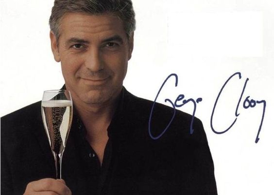 George Clooney At The Bar None