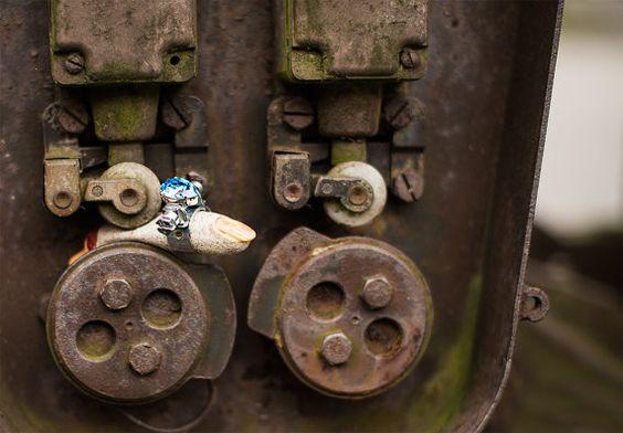 Schwermetall .308 Ring mit Zombiefinger Farben: von ElviraKleinmann