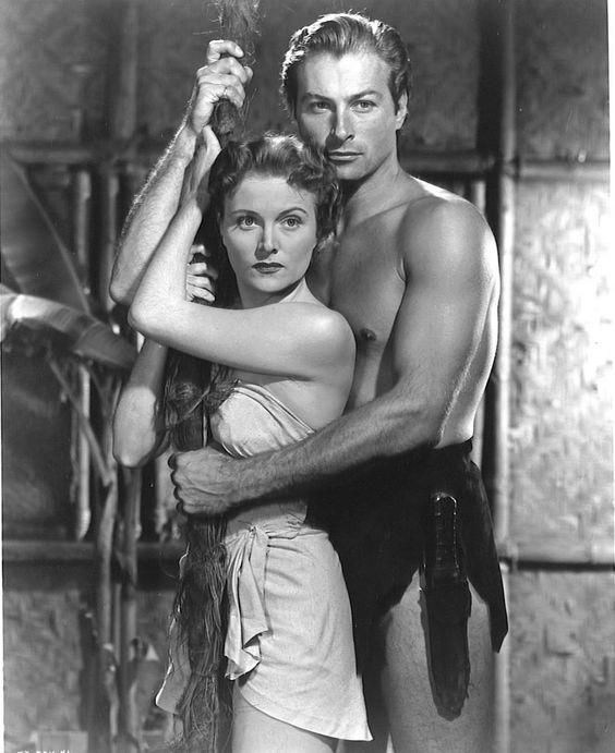 "Virginia Huston as ""Jane"" and Lex Barker as ""Tarzan"""