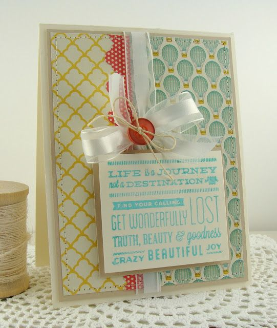 simply handmade by heather: Life is a Journey http://simplyhandmadebyheather.blogspot.com/2013/05/life-is-journey.html