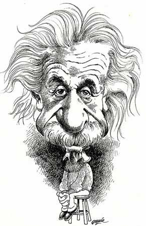 Image result for einstein caricature