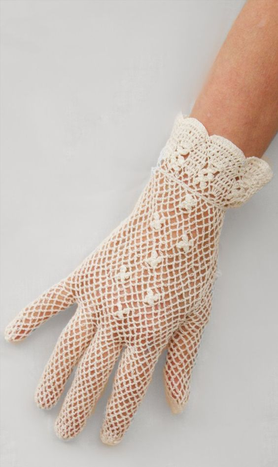Dents Short Cotton Crochet Dress Gloves - Ladies/Womens (5 colours ...