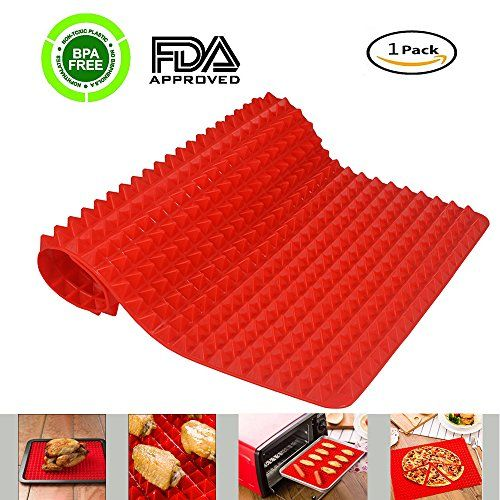Silicone Baking Mats Portin Pyramid Pan Healthy Bakeware Nonstick Cooking Oven Mat Heat Resistant Pad Oven Liner Use Silicone Baking Oven Cooking Pizza Bread