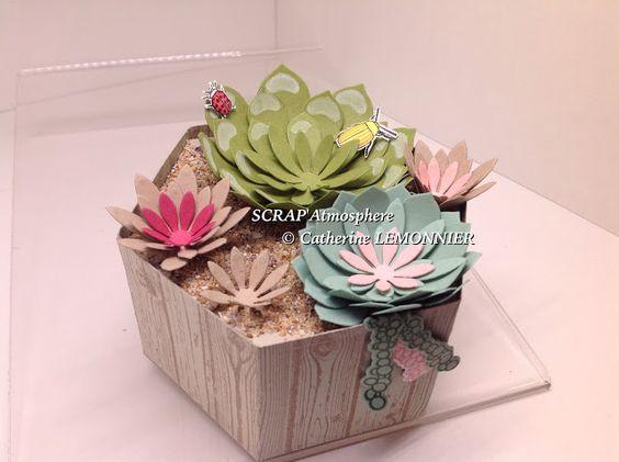 SCRAPATMOSPHERE, les ateliers créatifs de Catherine: Une jardinière avec nos nouveaux thinlits:
