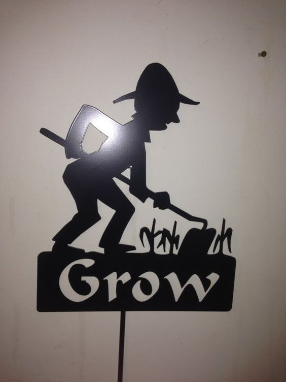 Jeu de jardin Yard Stake agriculteur de grandir par SCHROCKMETALFX