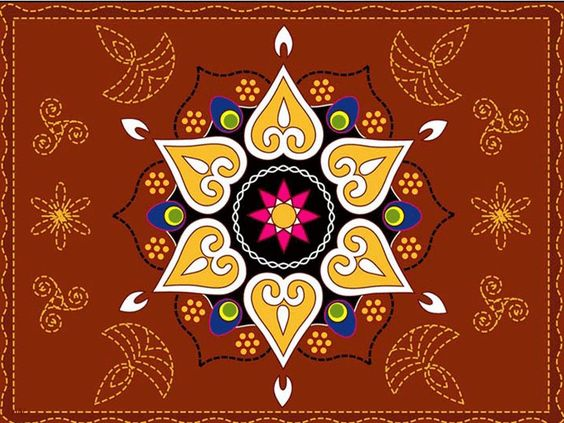 Easy paper cutting patterns diwali rangoli designs for Simple designs on paper