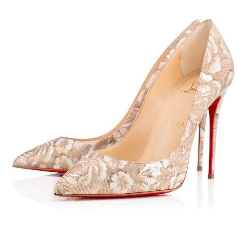 Chaussures femme - Pigalle Follies Vernis Porcelaine - Christian Louboutin