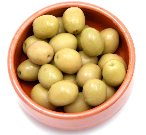 Green Stone-In Olives Premium. Spanish green olives. Large, catering-size tin. Stone-in for flavour.