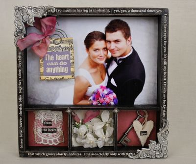 Wedding Gift Shadow Box : wedding gift shadow box Shadow Boxes ? Printer Trays ? Collages ...