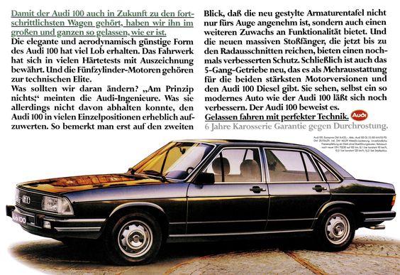 Audi 100 C2 1979 5s Gl Zukunft Audi 100 Audi German Cars