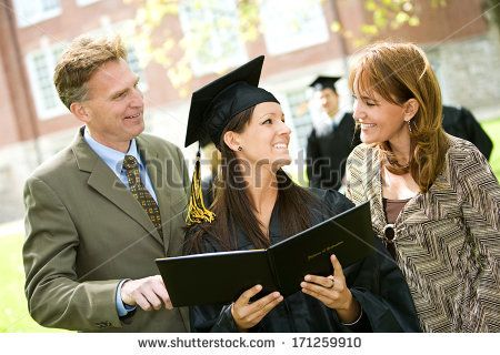 Graduation: Parents Looks At Graduate's Diploma by Sean Locke Photography, via Shutterstock