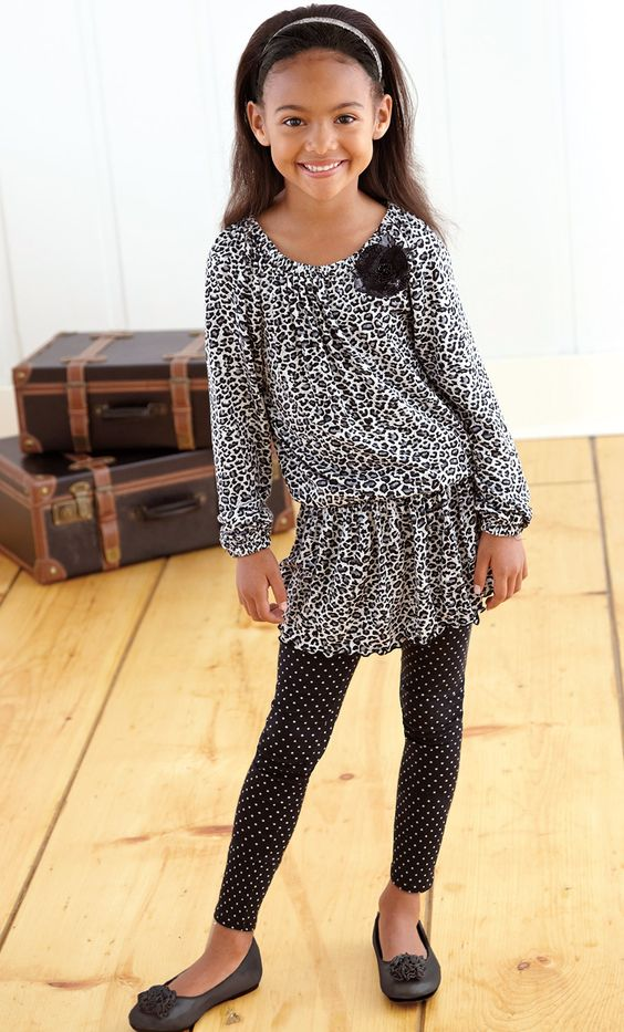 From CWDkids: Animal Smocked Top & Leggings.