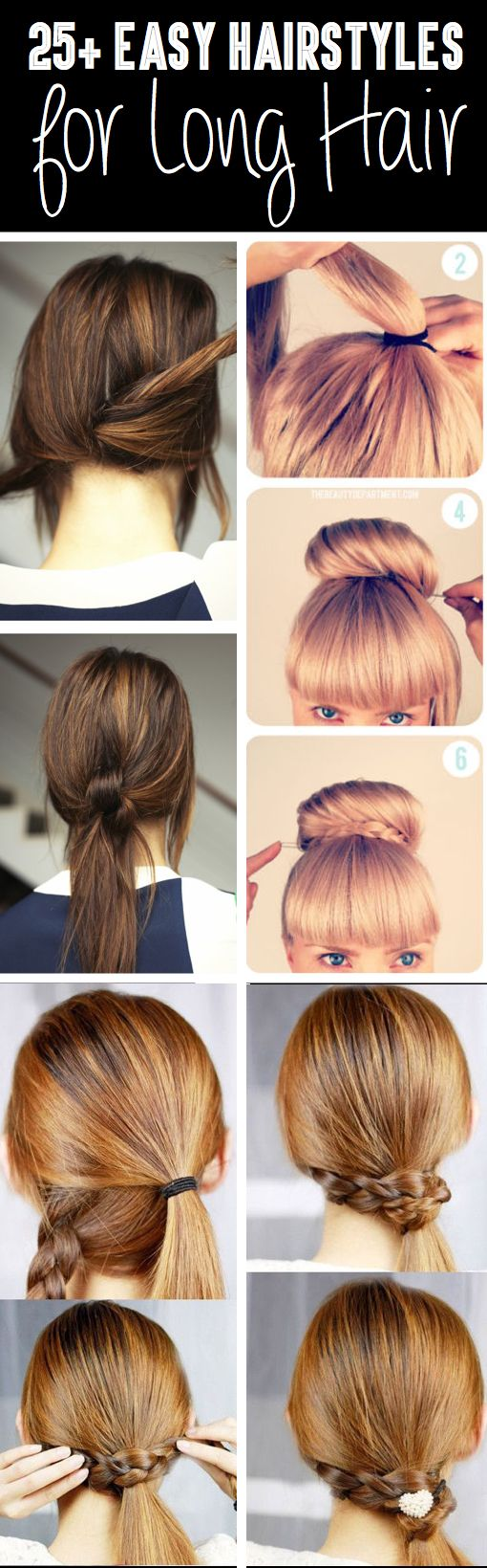 Phenomenal Easy Hairstyles Hairstyle For Long Hair And To Cute On Pinterest Hairstyles For Women Draintrainus