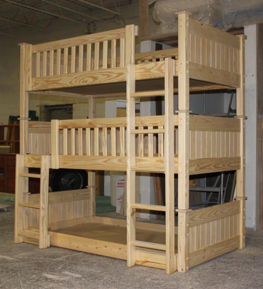 Best Bunk Beds 64 Custom Unfinished Triple Bunk Bed Jpg 538 400 x 300