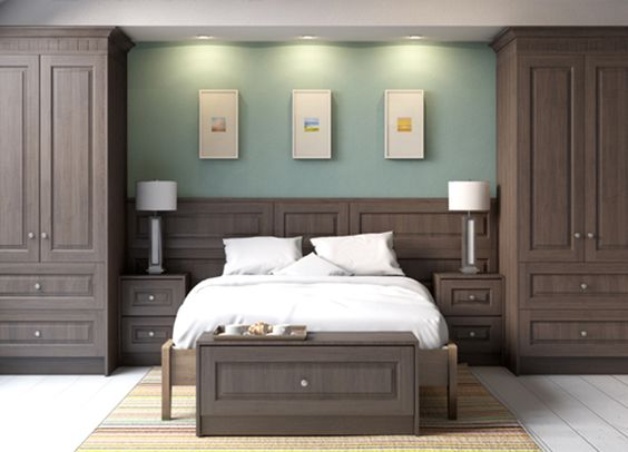 Bedroom Furniture Fitted glossy contemporary white fitted bedroom furniture built in