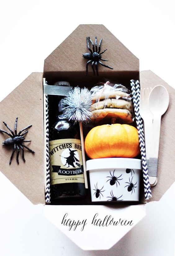 Our silver tinsel drink stirrers from Republicofparty.com look great in this cute little TRICK-OR-TREAT box featured on http://chelseylifeanddesign.blogspot.com/