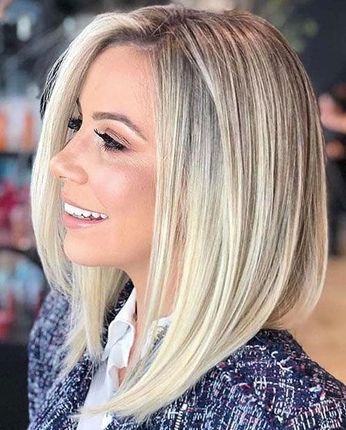 Extremely Popular Angled Bob Hairstyles 2019 To Blow People Hairstyles 2019 Bob Frisur Bob Frisur Schulterlang Haarschnitt
