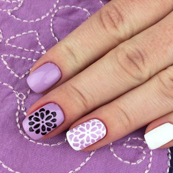 Nail art stencils, Nail stencils and Stencil designs on Pinterest