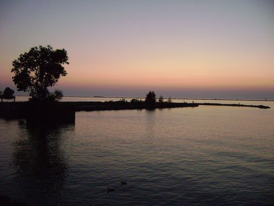 view of Lake Erie in Cleveland, Ohio