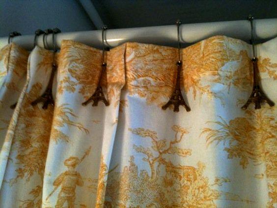 Shower curtain hooks | Paris theme | Pinterest | Antiques, Hooks ...
