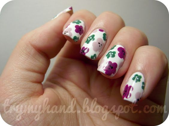 Try My Hand: NOTD : Autumn Floral