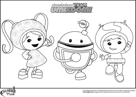Team Umizoomi Bot Coloring Coloring Pages