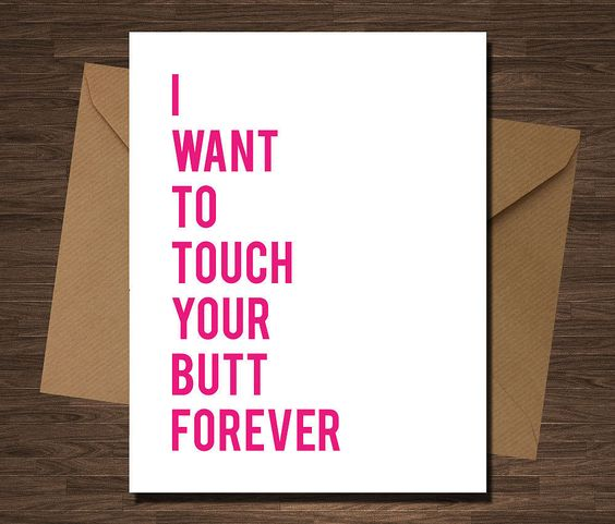 Sexy valentine favor for husband