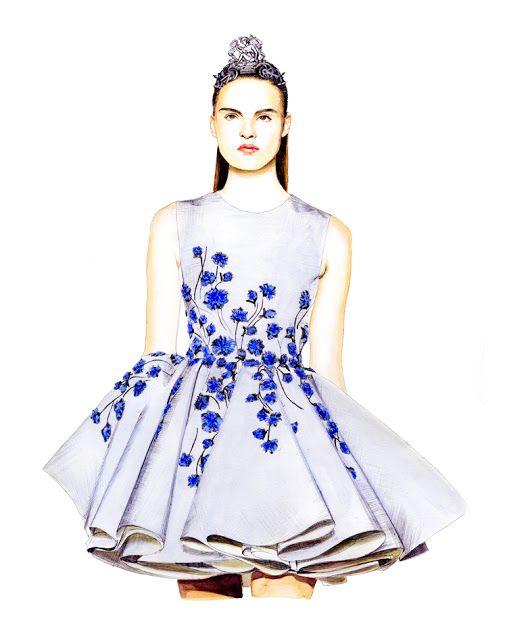 Illustration.Files: Giambattista Valli F/W 2013 Haute Couture by Lidia Luna