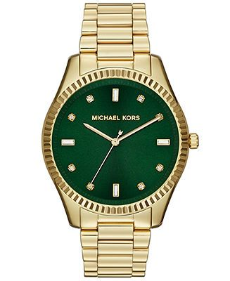 Michael Kors Watch, Women's Blake Gold-Tone Stainless Steel Bracelet 42mm MK3226 - All Watches - Jewelry & Watches - Macy's