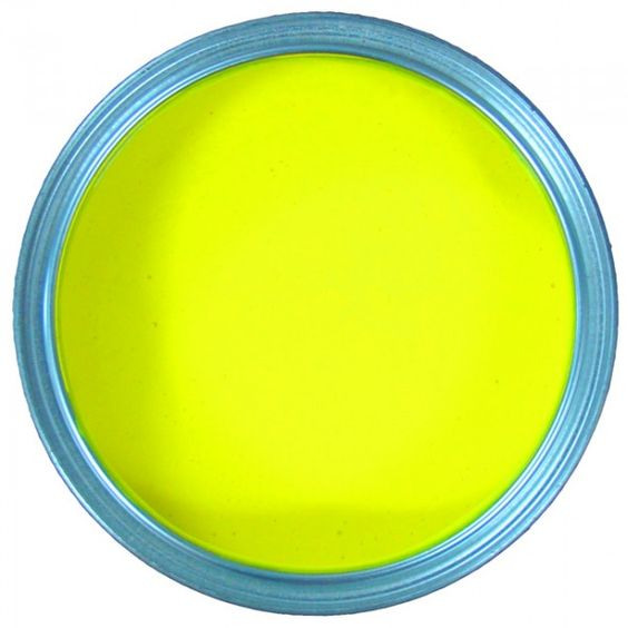 This looks like the top view of a can of paint but it Bright yellow wall paint