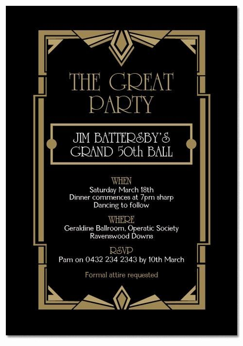1920s Party Invitation Template Free Luxury Gatsby Ball Birthday Invitations Invitations Ad Gatsby Invitations Great Gatsby Invitation Gatsby Party Invitations