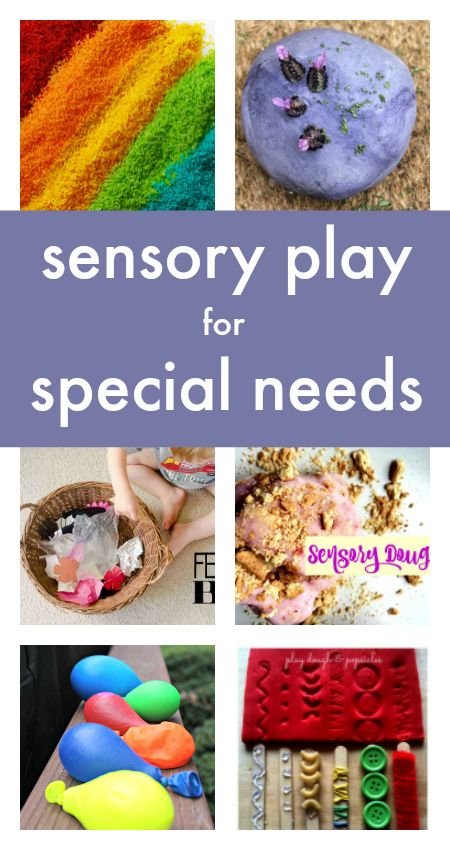 """Sensory Play Activities for Special Needs :: sensory seekers :: sensory processing activities :: play activities for blind children (More on, """"Education, Suggestions, Advice"""" board.)"""