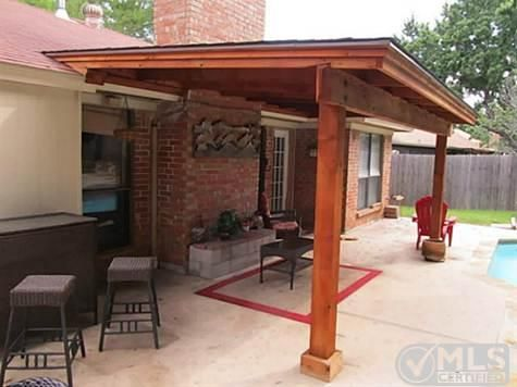 Stand Alone Patio Cover Built Just Above The Roof Line. Iu0027d Add A  Galvanized Roof And Run Electrical For A Fan. | House | Pinterest | Cedar  Pergola, ...