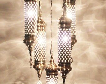 Amazing Turkish Lamp Crackle Glass Hanging Pendant Chandelier Pendant Light Moroccan Unique Lamp Moroccan Turkish Hanging Pendant Lamp In 2020 Hanging Pendants Pendant Chandelier Crackle Glass