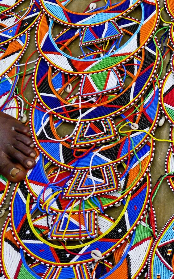 Beautiful beadwork of the Masai being sold in the Nairobi market. www.TimbuktuGlobalTours.com