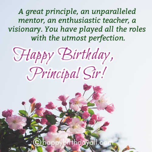 31 Best Happy Birthday Wishes For Principal With Images Wishes For Teacher Birthday Wishes For Myself Birthday Wishes For Teacher