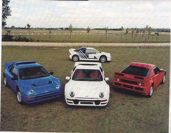 Ford RS 200 in red, white and blue. How patriotic... : )