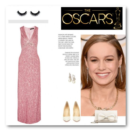 """Oscar night"" by imagne99 ❤ liked on Polyvore featuring Jenny Packham, Calvin Klein, ECCO, Christian Louboutin and RED Valentino"