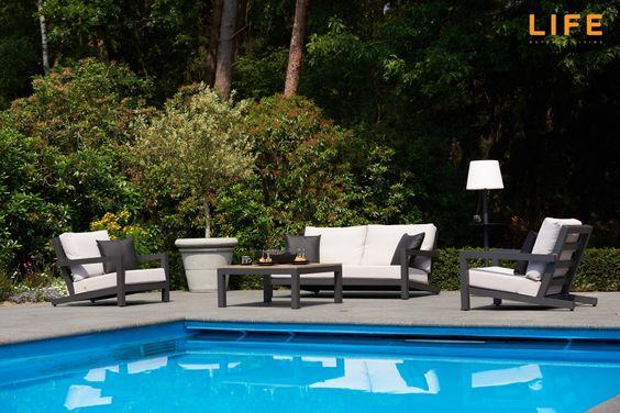 Lounge set Block wit Tuinmeubel Collectie LIFE Outdoor Living