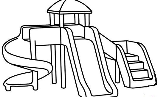 Sliding Park At Playground Coloring Printable Page Coloring Pages Playground Simple Car Drawing