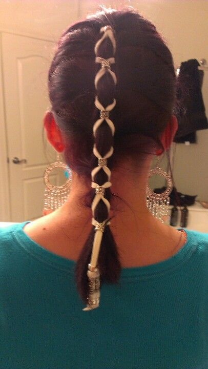 Leather Hair Braid Easy To Do And It Stays In Place All